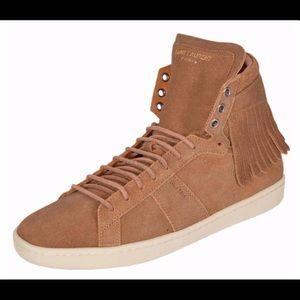 Women's Saint Laurent Fringed Sneakers Size 7.5
